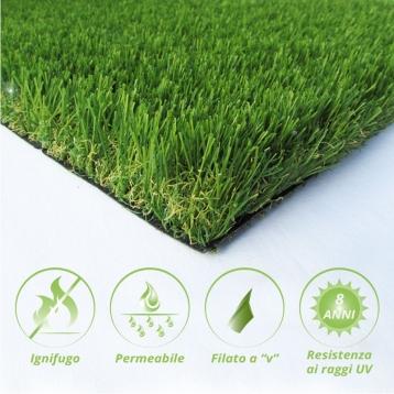 Tappeto di erba sintetica V40