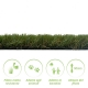 Tappeto di erba sintetica METIS40